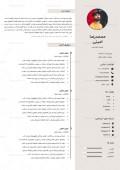 قالب خام رزومه کاری فارسی دو صفحهای Word کد 323